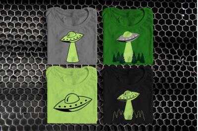 UFO Abduction | SVG | PNG | DXF