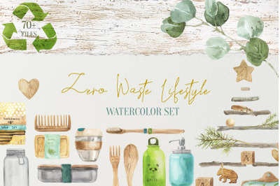 Zero Waste Lifestyle Watercolor Set