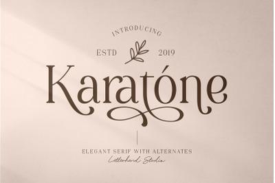 Karatone - Elegant Serif