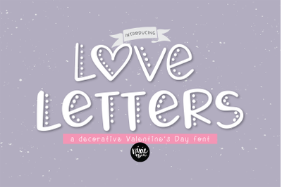 LOVE LETTERS a Decorative Valentine Font