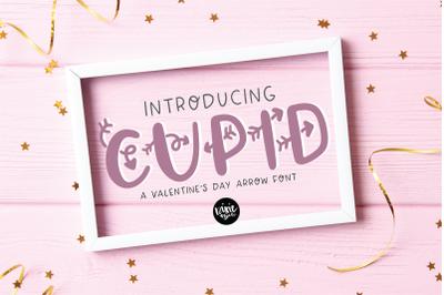 CUPID a Valentine Arrow Font