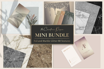 Gold Foil & Marble, Glitter 88 Textures - MINI BUNDLE