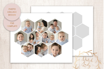 PSD Photo Collage Template #6