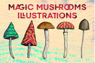 Magic Mushrooms Illustrations