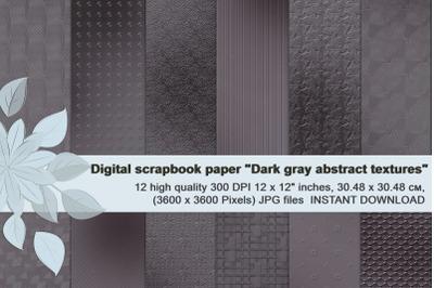 Dark gray abstract metallic textures