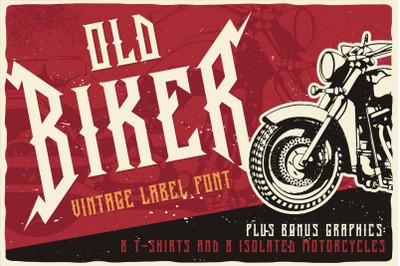 Old Biker Label Font + Bonus