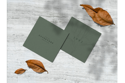 Embossed Square Cards Mockup Pt. 5