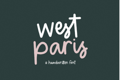 West Paris - A Cute Handwritten Font