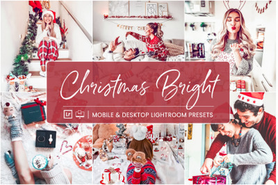 Christmas Bright -  Mobile & Desktop Lightroom Presets