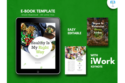 Recipe vegetarian presentation keynote template