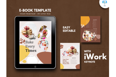 Recipe bakery cake presentation keynote template