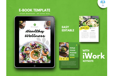 Recipe vegan presentation keynote template