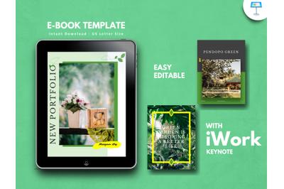 Botanical photography portfolio presentation keynote template