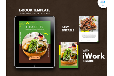 Vegetarian recipe presentation keynote template