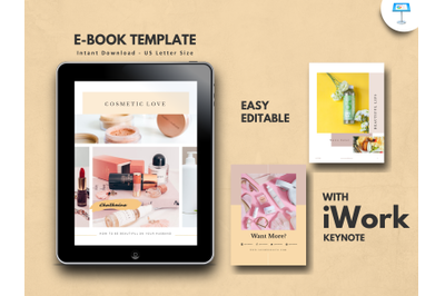 Cosmetic makeup tips presentation keynote template