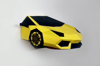DIY Lamborghini Front - 3d papercraft