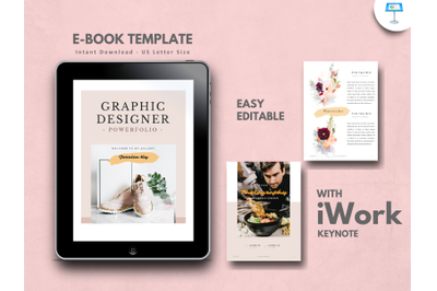 Graphic designer portfolio presentation keynote template