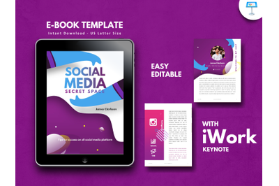 Social media secret tips presentation keynote template