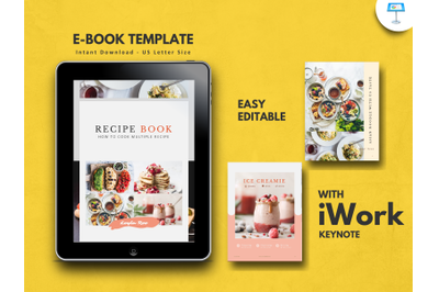 Minimalist recipe food presentation keynote template