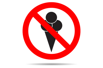 Ice cream ban vector