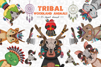 Woodland animals Clipart set 3