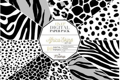 Digital Paper Pack  I  Africa Skins Set 04