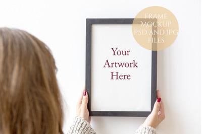 Frame Mockup - Woman holding frame