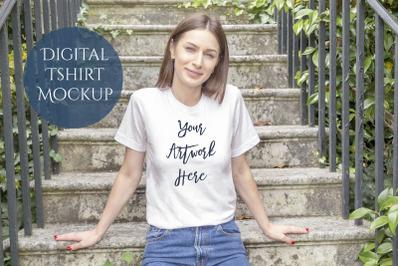 Bella-Canvas 3001 T-shirt Digital Mockup Photo