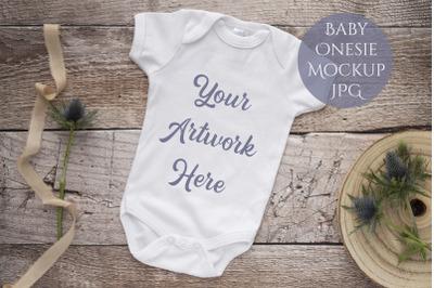 Babygrow, onesie mockup JPG
