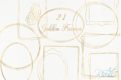 Gold Frame Clipart download. Commercial use. Golden Frames PNG  Metall