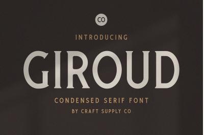 Giroud - Condensed Serif Font