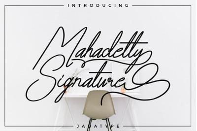Mahadetty Signature