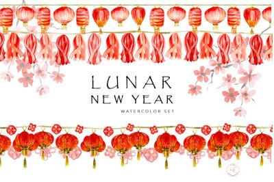 Lunar New Year Watercolor Set