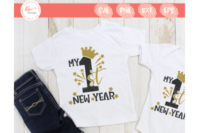 My First New Year - Crown SVG