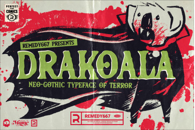 Drakoala  Neo-Gothic Horror Font