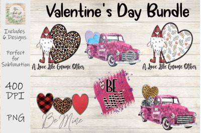 Valentines Day Trucks and Gnomes Bundle