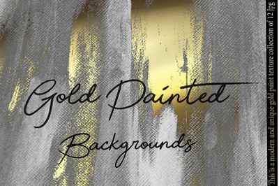 Gold Painted Backgrounds