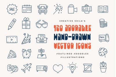 Adorable Hand-Drawn Vector Icons