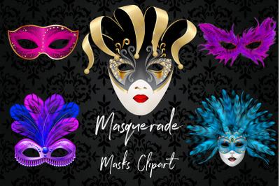 Masquerade Masks Clipart, Carnival Mask Clipart