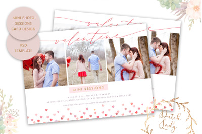 PSD Photo Session Card Template #51