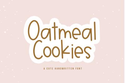 Oatmeal Cookies - A Fun Handwritten Font