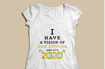 2020 Vision New Year | Applique Embroidery