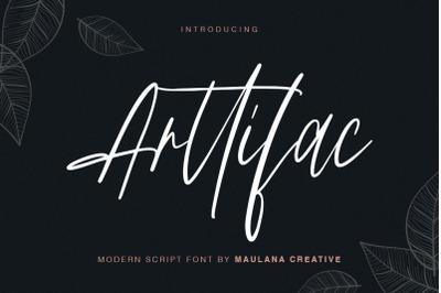 Arttifac - Modern Script Font