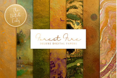 Digital Backgrounds & Papers - Forest Fire