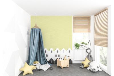 Interior scene - artwork background - interior mockup