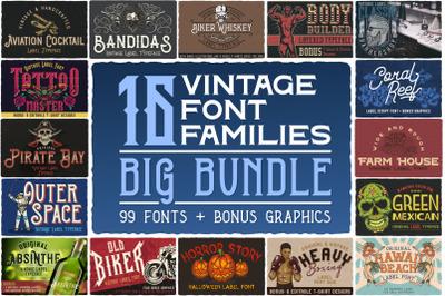 16 Font Familes Bundle