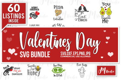 Valentines day svg bundle.