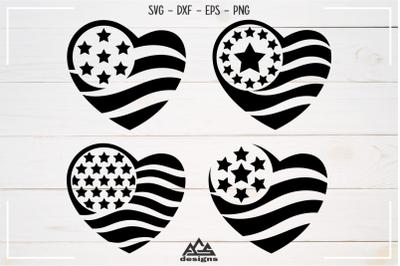Love Heart Stars Valentine Svg Design