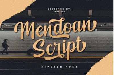 Mendoan // script font