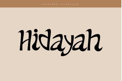 hidayah font